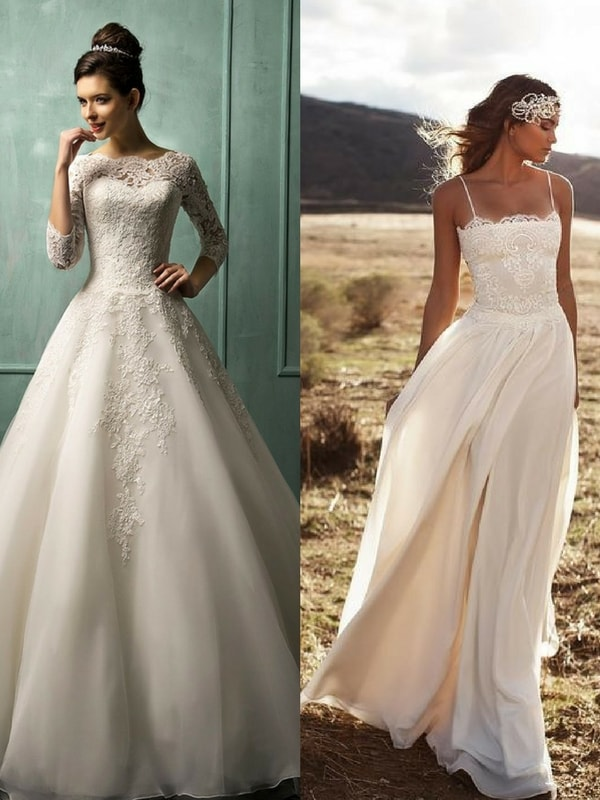 a-line wedding dress - blank canvas