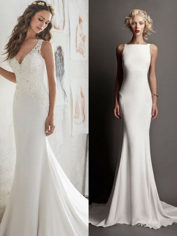 sheath/column wedding dress - blank canvas