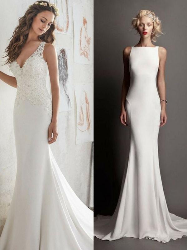 sheath/column wedding dress - blank canvas