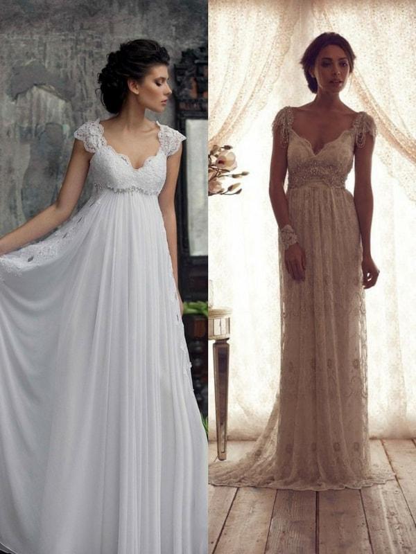 empire wedding dress - blank canvas