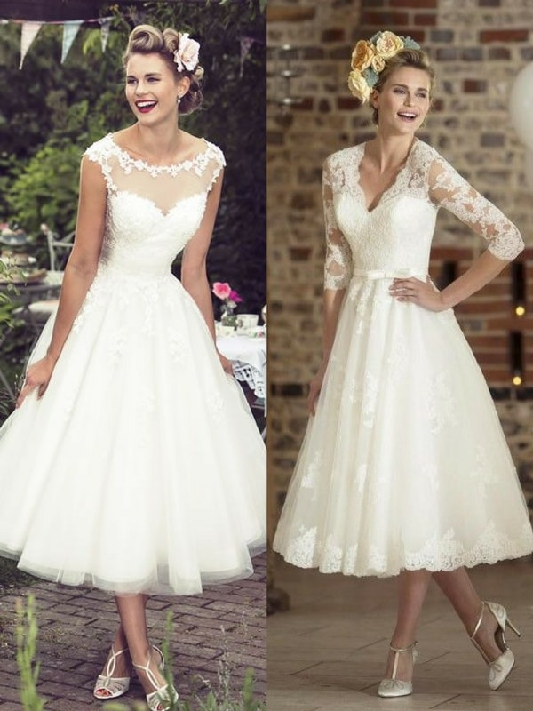 tea length wedding dress - blank canvas