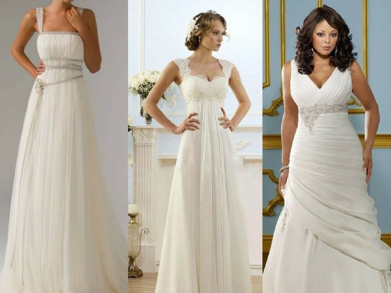 Empire Waist wedding dress - blank canvas