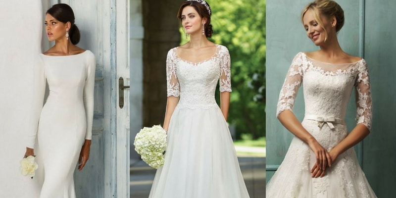 Long & Short Sleeves wedding dress - blank canvas