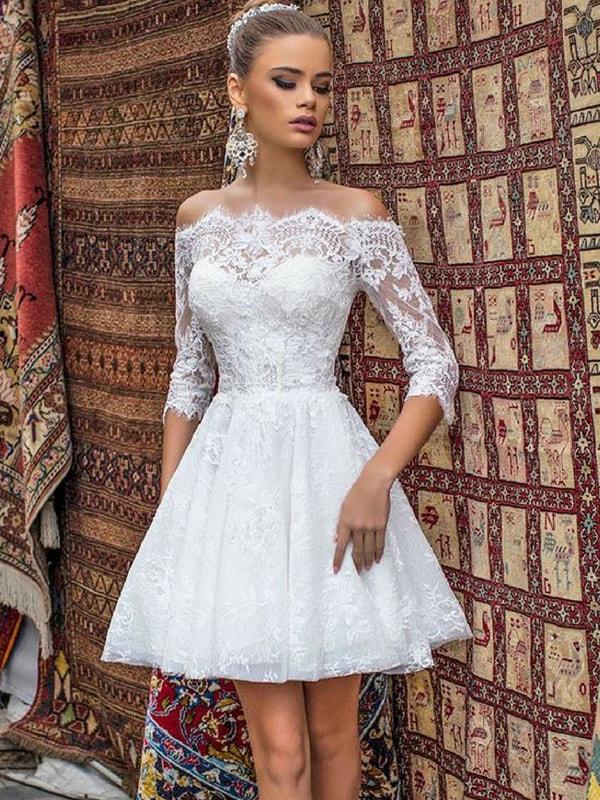 Petite wedding dress - blank canvas