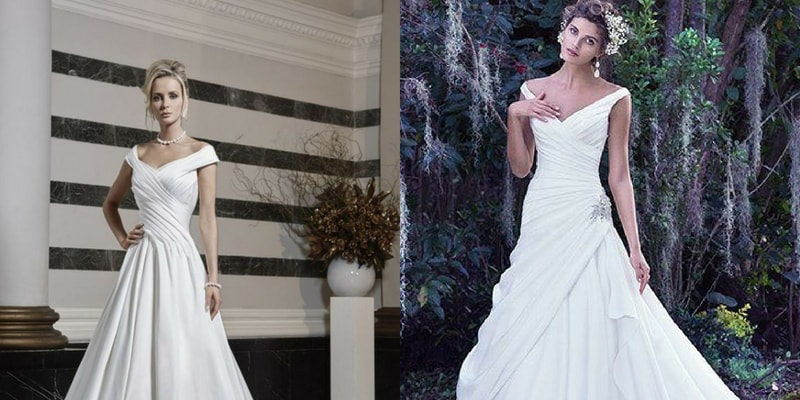 Portrait Neckline wedding dress - blank canvas