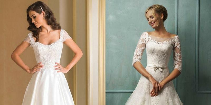 Scoop Neckline wedding dress - blank canvas