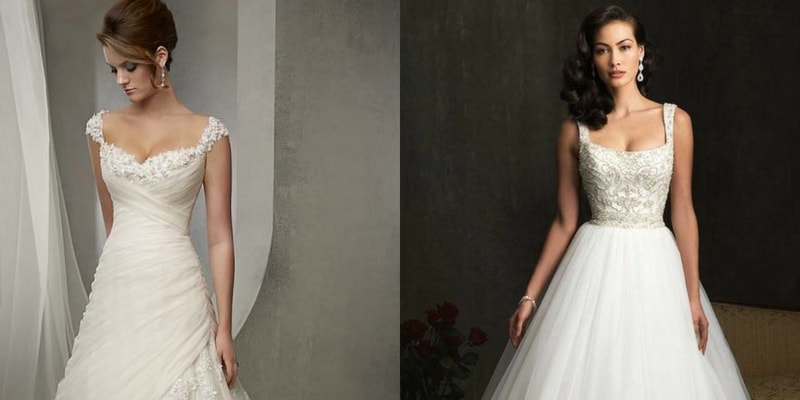 Square Neckline wedding dress - blank canvas