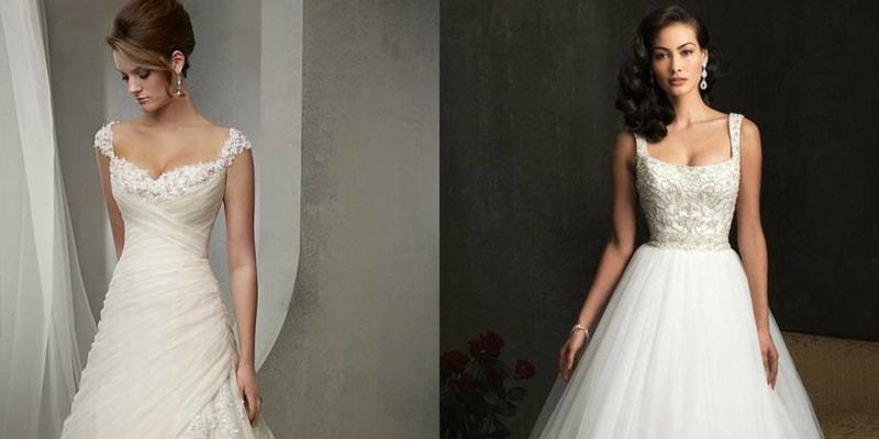 Square Neckline wedding dress - blank canvas