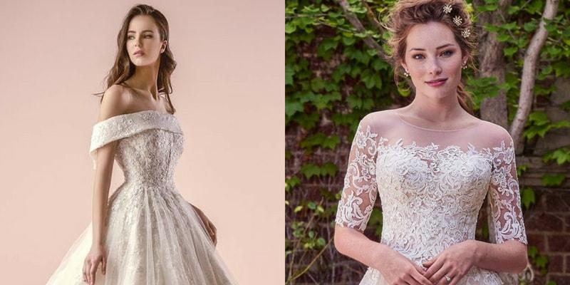 Straight Neckline wedding dress - blank canvas