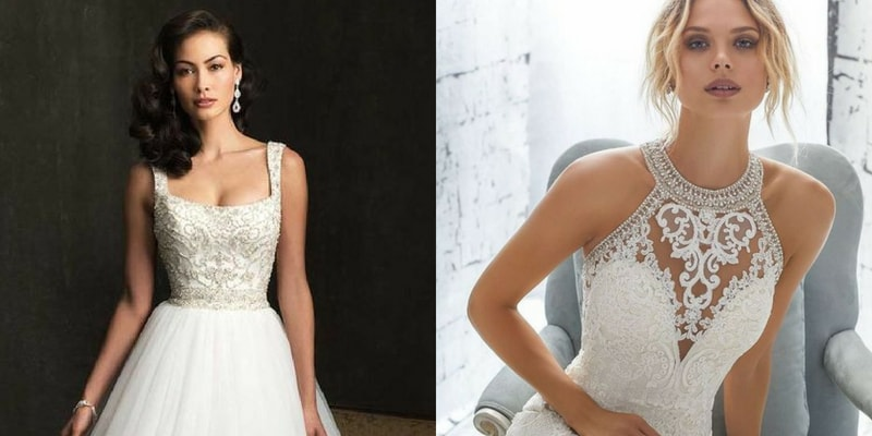 Straps & Sleeveles wedding dress - blank canvas