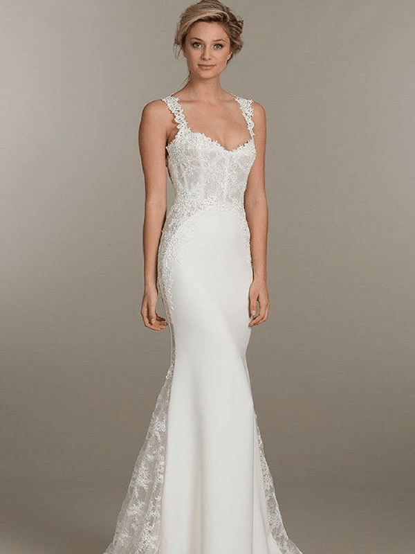 Tall Thin Wedding Dress Blank Canvas