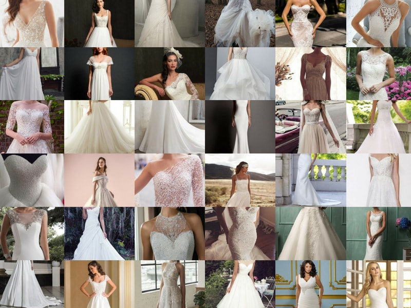 Wedding Dress guide - blank canvas