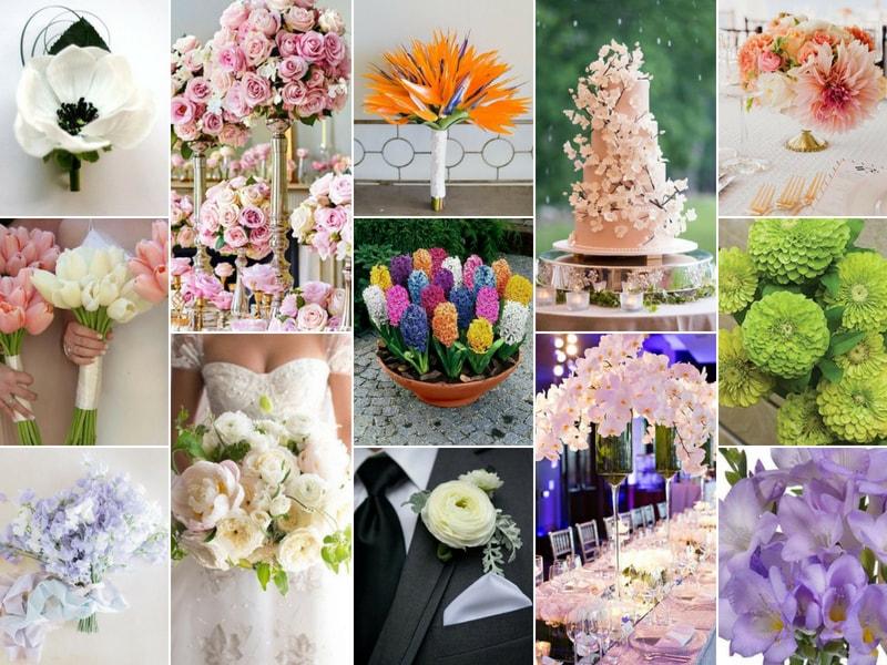 wedding flower ideas - blank canvas